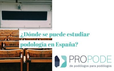 1- ¿Dónde se puede estudiar podología en España?
